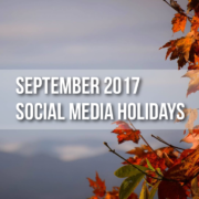 September 2017 Social Media Holidays